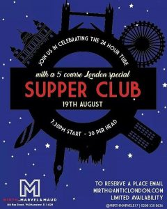 Few tickets left for Fridays supper club!! Email mirthanticlondoncom tohellip