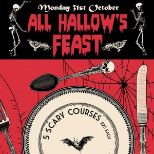 Book your space for our 5 course all hallows feasthellip